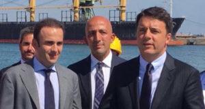 La visita del Premier Matteo Renzi al cantiere di Taranto nel 2016