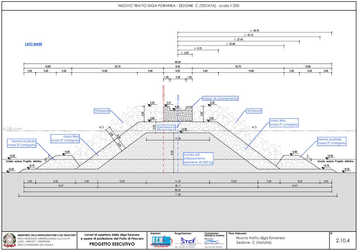 Nuovo tratto diga foranea – sezione C