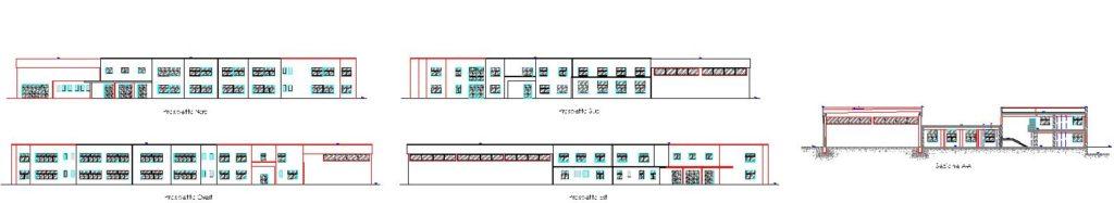 TAV. 4 VAR - PROSPETTI E SEZIONE-Model